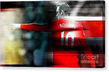 Wayne Rooney Canvas Print - Wayne Rooney by Marvin Blaine