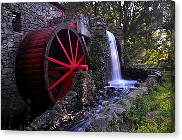 Wayside Inn Grist Mill Canvas Print - Wayside Inn Grist Mill by Toby McGuire