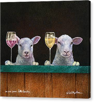 We Are Poor Little Lambs... Canvas Print by Will Bullas