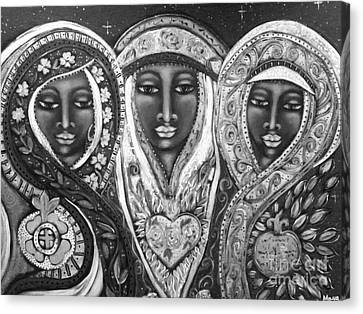 Madonna Canvas Print - We Three Queens Of Orient Are by Maya Telford