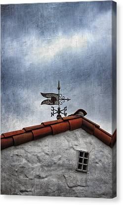 Weathered Weathervane Canvas Print
