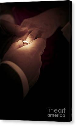 Nuptials Canvas Print - Wedding Rings by Jorgo Photography - Wall Art Gallery