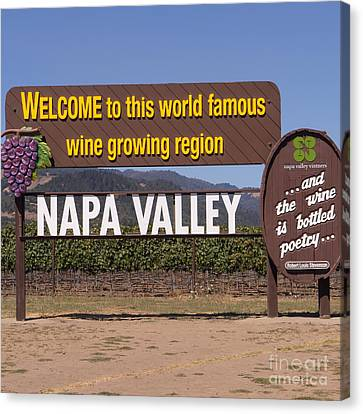 Welcome To Napa Valley California Dsc1681 Canvas Print by Wingsdomain Art and Photography