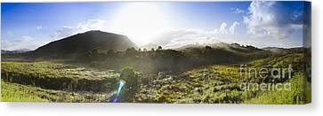 West Coast Range Landscape In Tasmania Australia Canvas Print