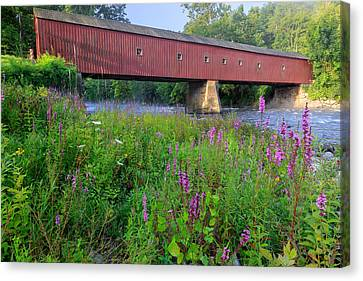 Litchfield County Canvas Print - West Cornwall Covered Bridge by Bill Wakeley