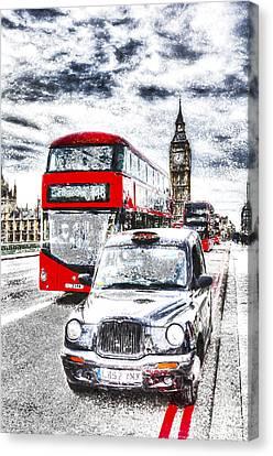 Westminster Bridge London Art Canvas Print