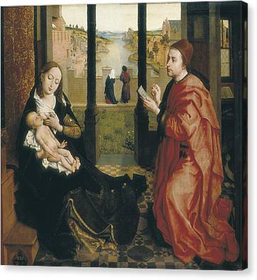 Saint Luke The Evangelist Canvas Print - Weyden, Rogier Van Der  1400-1464. St by Everett