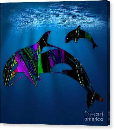 Whales Canvas Print by Marvin Blaine