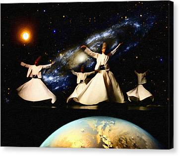 Whirling Universe Canvas Print by Celestial Images