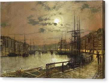 Whitby Canvas Print by John Atkinson Grimshaw