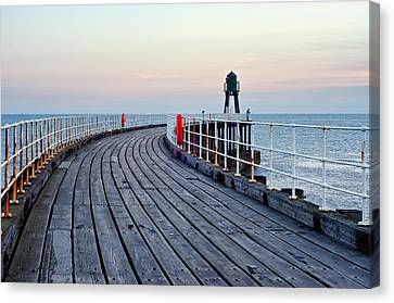 Whitby Pier Canvas Print by Stephen Taylor