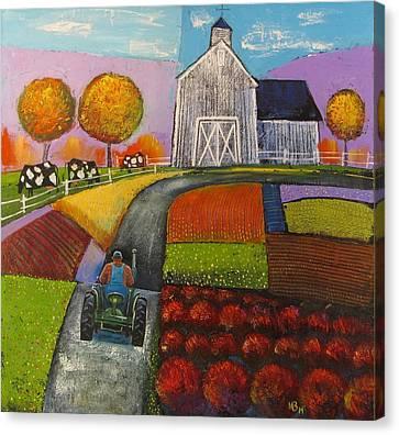 White Barn Canvas Print