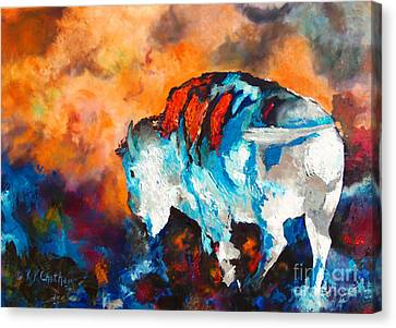White Buffalo Ghost Canvas Print