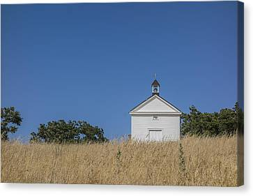 White Country Church Canvas Print by David Litschel