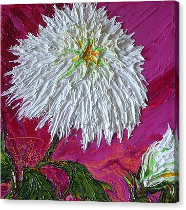 White Mum Canvas Print by Paris Wyatt Llanso