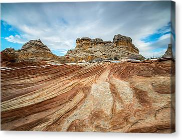 Monument Valley Canvas Print - White Pocket Utah by Larry Marshall