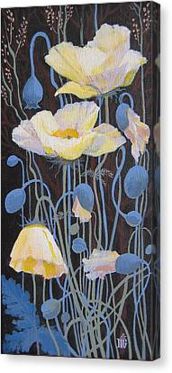Canvas Print featuring the painting White Poppies by Marina Gnetetsky