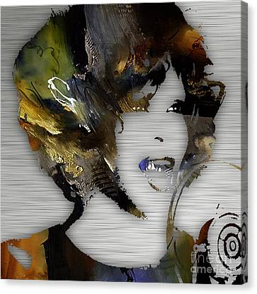 Whitney Houston Collection Canvas Print by Marvin Blaine