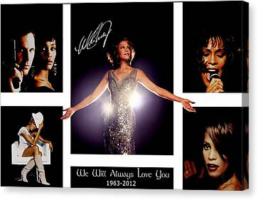Whitney Houston Tribute Canvas Print by Amanda Struz
