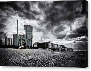 Whitstable Beach Canvas Print by Ian Hufton