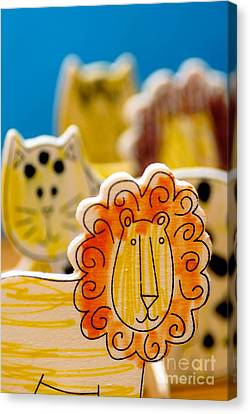 Craft Canvas Print - Wild Animals Colored By A Child by Amy Cicconi