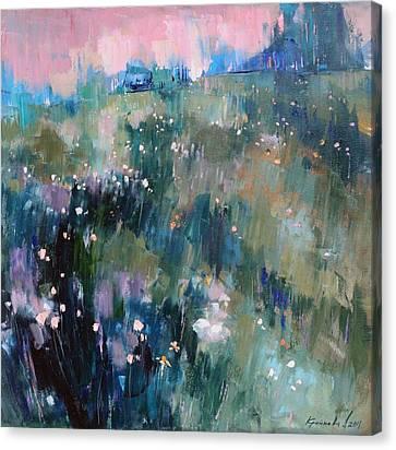 Canvas Print featuring the painting Wild Grasses  by Anastasija Kraineva