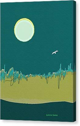 Wild Grasses Canvas Print by Lenore Senior