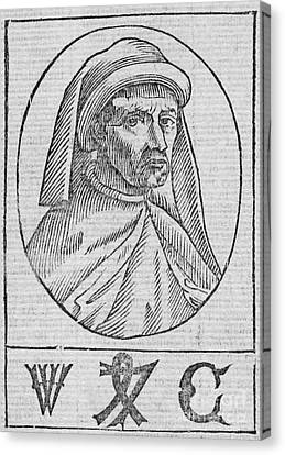 William Caxton, English Printer Canvas Print by Middle Temple Library