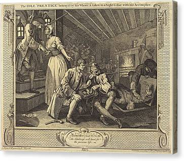 William Hogarth English, 1697 - 1764, The Idle Prentice Canvas Print by Quint Lox