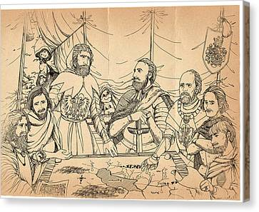 Lucerne Canvas Print - William Tell And Duke Leopold by Reynold Jay