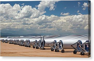 Wind Turbine Factory Canvas Print by Jim West