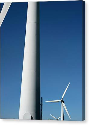 Natural Resources Canvas Print - Wind Turbines by Robert Brook
