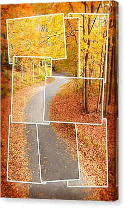 Winding Alley In Fall Canvas Print