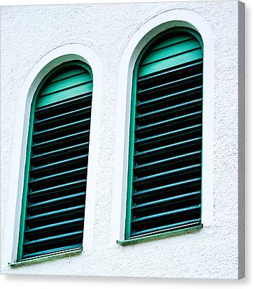 Apartment Canvas Print - Window In Green Wood by Tommytechno Sweden