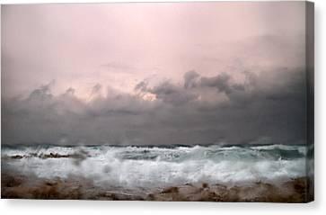 Window Sea Storm  Canvas Print by Stelios Kleanthous