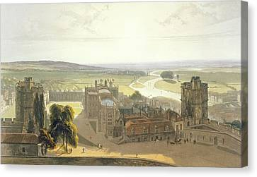 Windsor Castle, From A Compilation Canvas Print by William Daniell