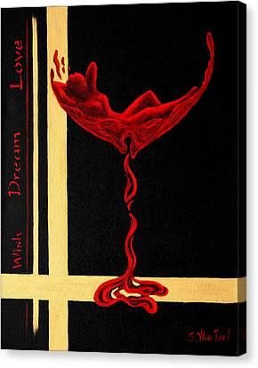 Wine Dream Canvas Print by Sandi Whetzel