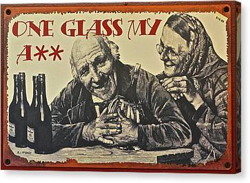 Wine Is Fine Canvas Print by Frozen in Time Fine Art Photography