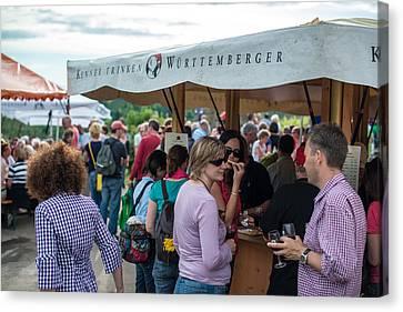 Wine Tour In Uhlbach Near Stuttgart - Germany Canvas Print by Frank Gaertner