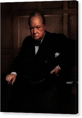 Orator Canvas Print - Winston Churchill by Doc Braham