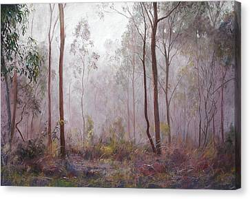 Winter At Wickham Canvas Print by Lynda Robinson