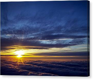 Canvas Print featuring the photograph Winter Dawn Over New England by Greg Reed