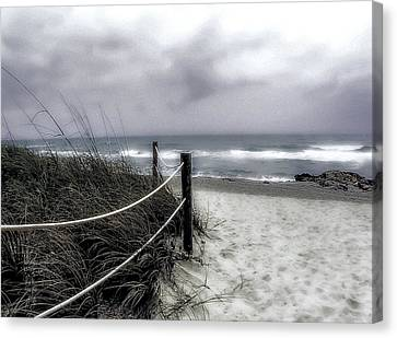 Winter Day At The Beach Canvas Print by Julie Palencia