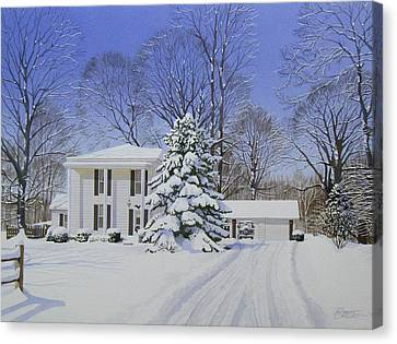 Winter Home Canvas Print