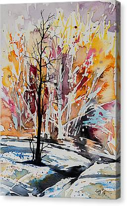 Winter Canvas Print by Kovacs Anna Brigitta