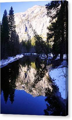 Winter Reflection Canvas Print by Michael Courtney