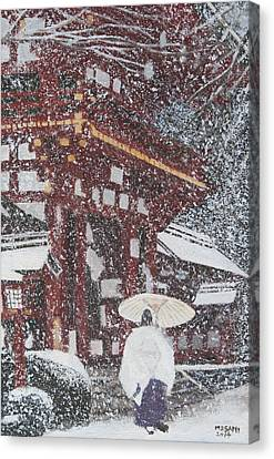 Winter Scene From Japan Canvas Print