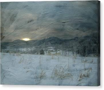 Winter Scene  Canvas Print by Kathy Jennings