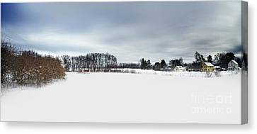 Snow Landscape Canvas Print - Winter Scenic by HD Connelly