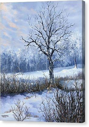 Canvas Print featuring the painting Winter Slumber by Lynne Wright